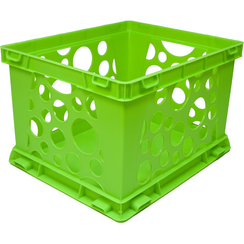 STOREX Large Storage and Transport File Crate (Set of 3)
