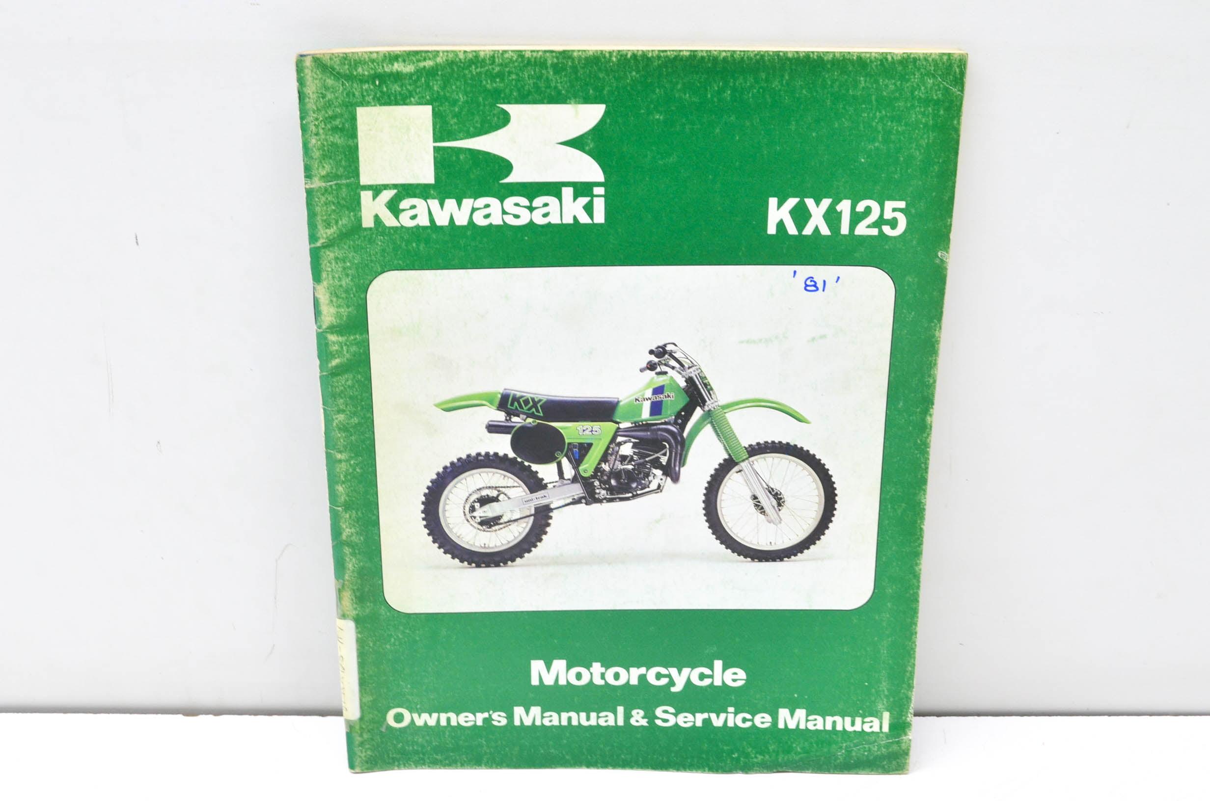 Kawasaki 99920 1123 01 Kx125 Motorcycle Owners Manual Service Kx 125 Wiring Diagram Qty 1