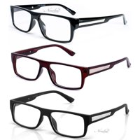 cbf86bcc87a Product Image 3 Pairs Classic Basic Simple Geeky Comfortable Stylish  Reading Glasses with Lanyard