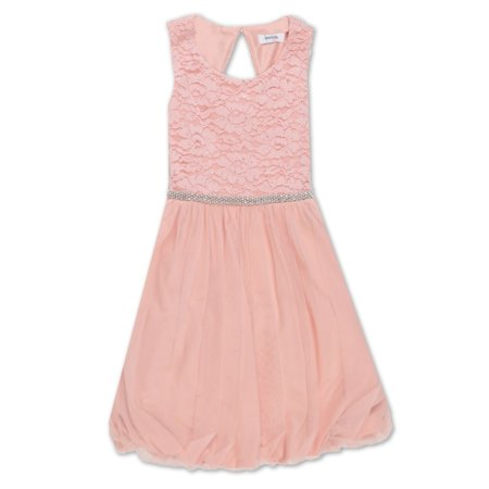 Lace Bodice Bubble Hem Occasion Dress (Big Girls)
