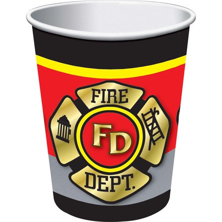 Firefighter 9 oz Cups (8 Pack) - Party Supplies