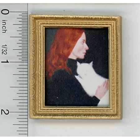 Dollhouse Miniature Art - Gold Framed Print of a Famous Victorian Painting