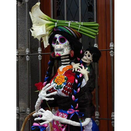 Peel-n-Stick Poster of Day Of The Dead Mexico Crafts Catrina Tradition Poster 24x16 Adhesive Sticker Poster - Who Is Catrina Day Of The Dead