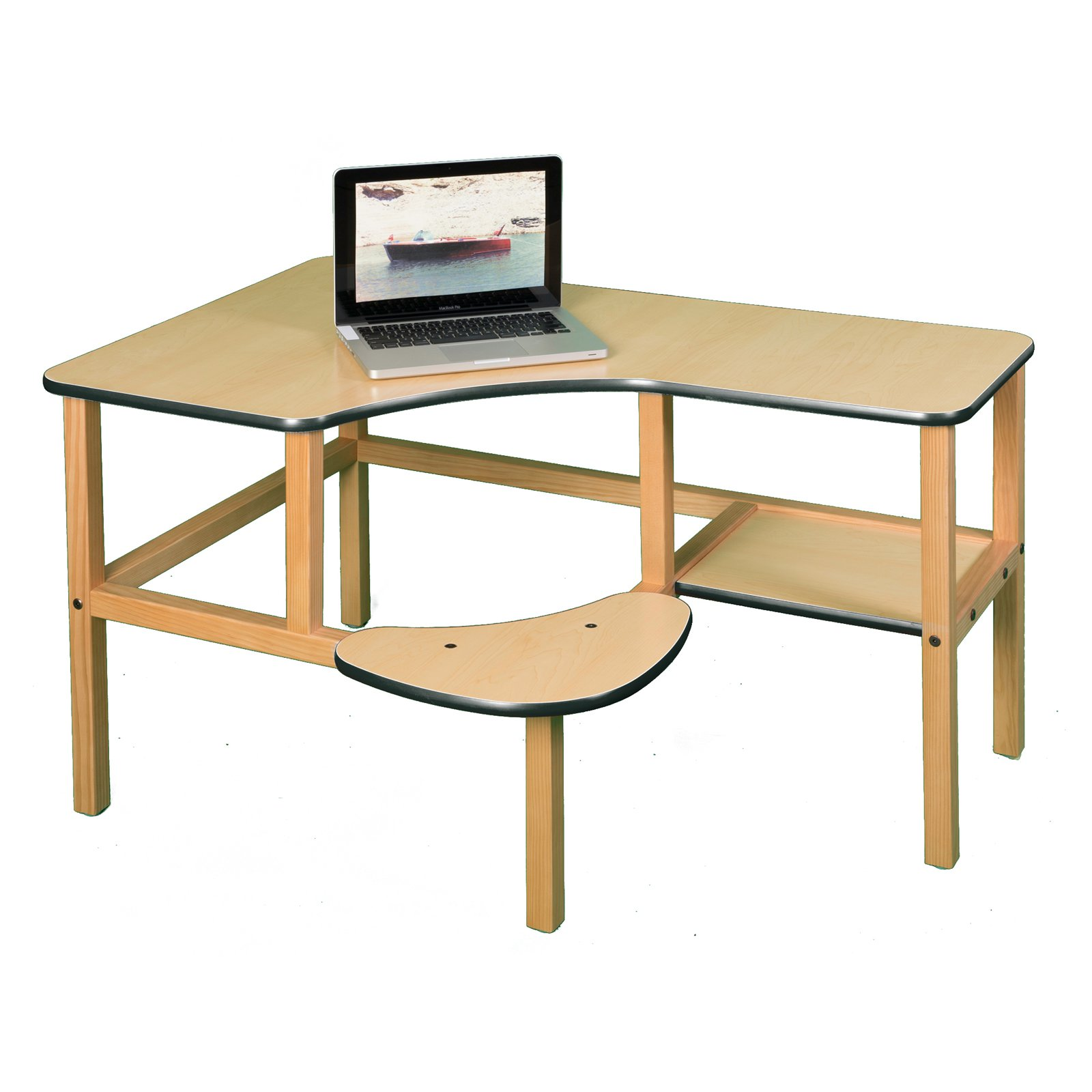 Wild Zoo Grade School Computer Desk - White