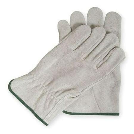Drivers Gloves, Split Leather, Gray, 2XL, PR