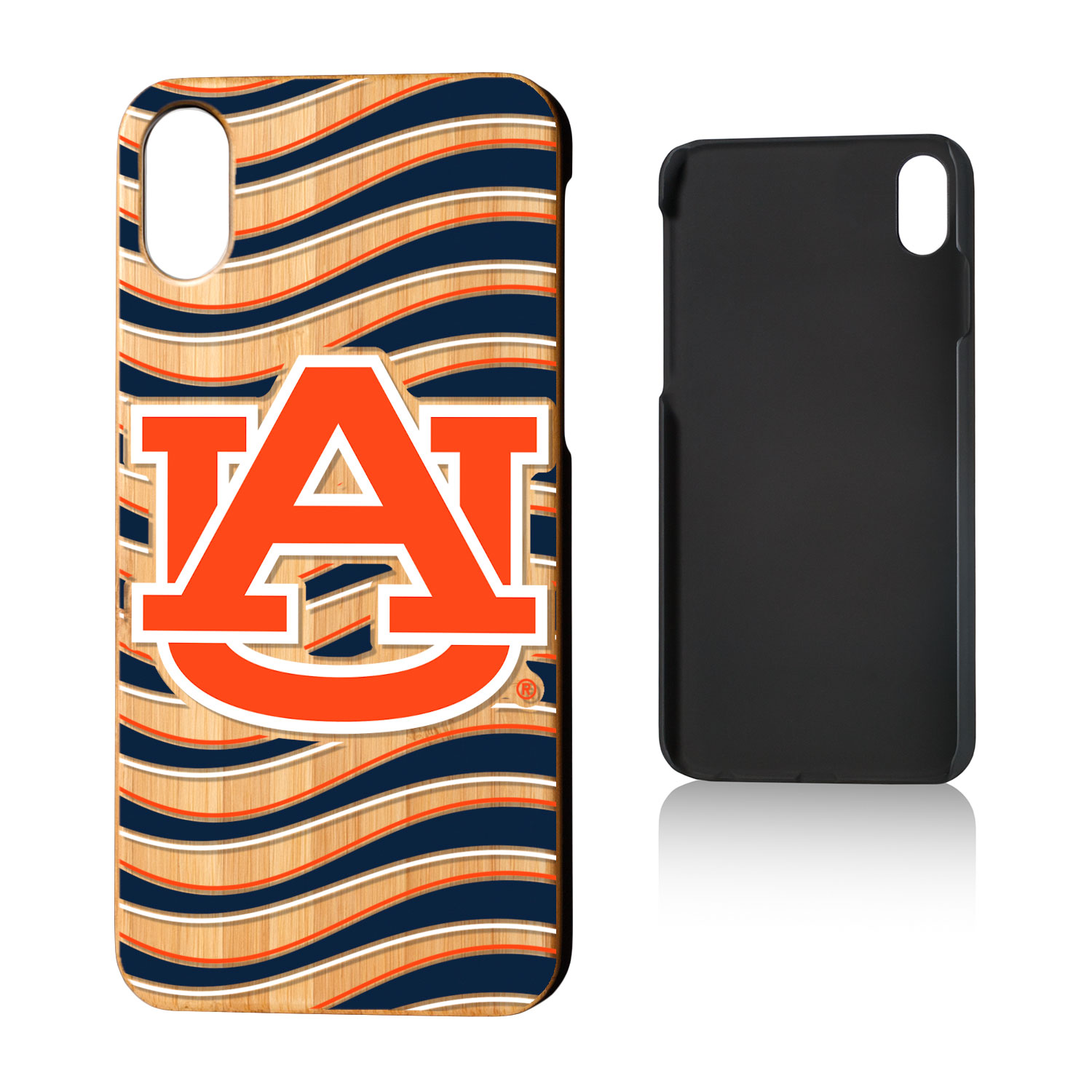 AU Auburn Tigers Wave Bamboo Case for iPhone X