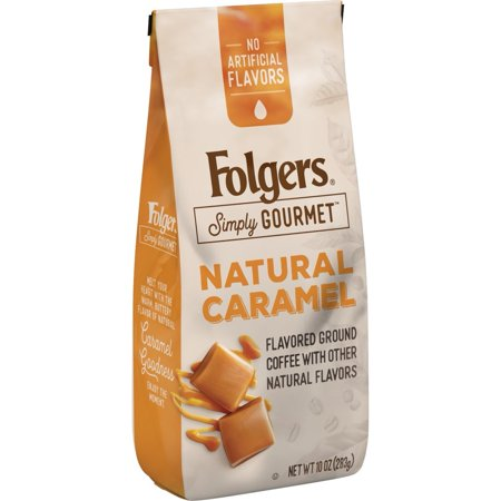 Folgers Simply Gourmet, Natural Caramel Flavored Ground Coffee, 10oz
