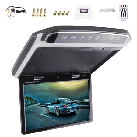 New Hot Sale Hd 10 2 Inch Sd Hdmi Fm Car 1080P Flip Down Car Roof Mount Car Ceiling Wide Over Head Drop Down Lcd Monitor Display