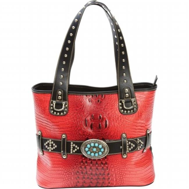 BNFUSA LUPFF10 Casual Outfitters Ladies Studded Fashion Turquoise Buckle Purse