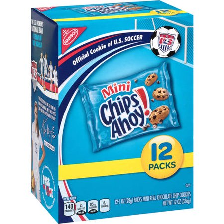 (2 Pack) Nabisco Multipacks Cookies Mini Chips Ahoy! 1 Oz, 12 Pk