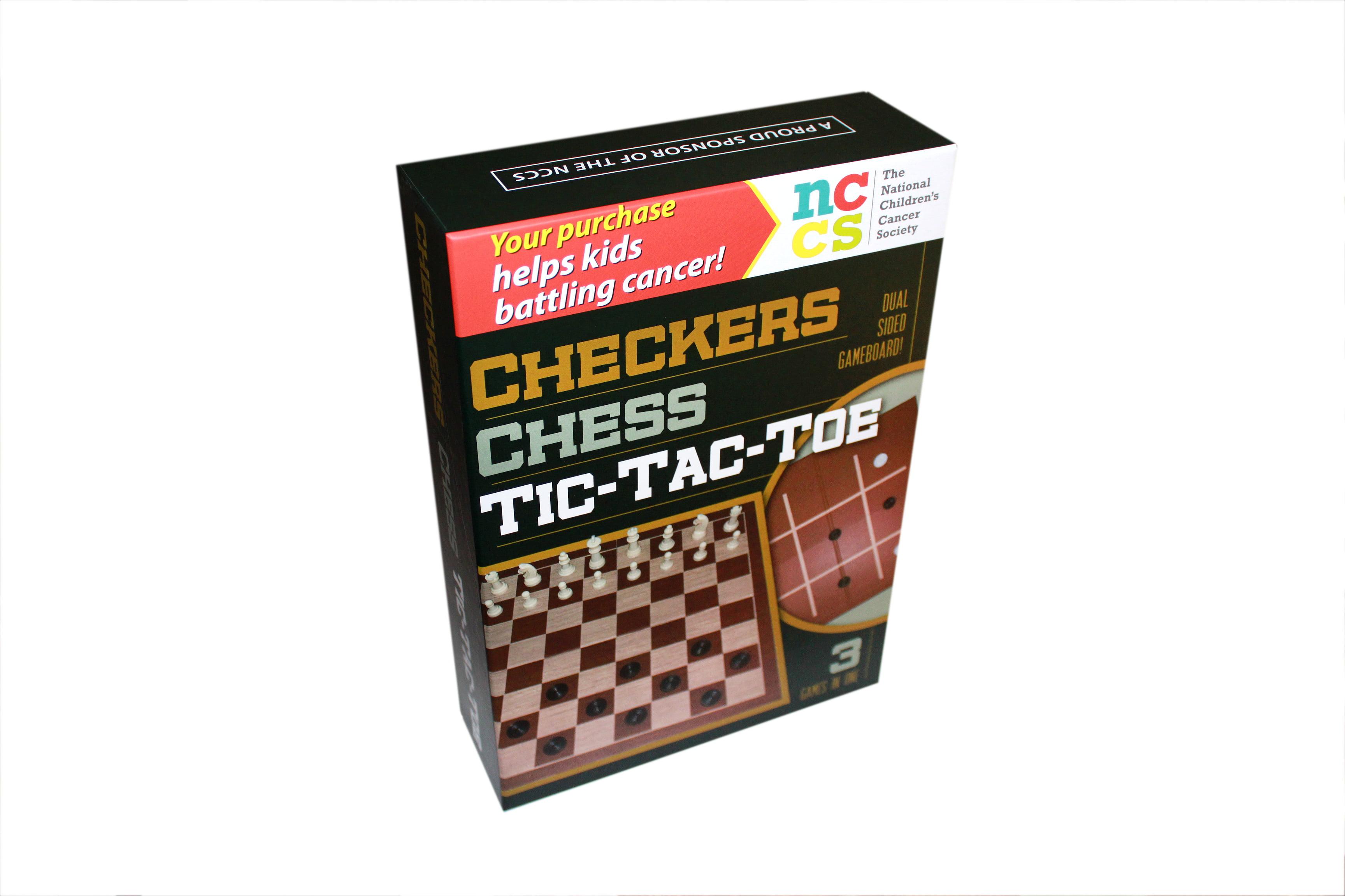 5 Star Checkers   Chess   Tic Tac Toe Set by H & H, LLC