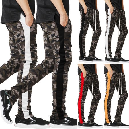 Black Straight Leg Trousers - Mens Designer Trousers Fashion Stretch Skinny Slim Fit Jeans Straight Leg Pants