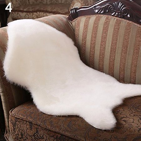 Soft Fluffy Faux Sheepskin Fur Rug Solid Color Carpet Chair Sofa Mat Home Decor