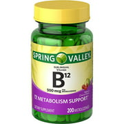 Spring Valley Sublingual B12 Microlozenges, 500 mcg, 200 count