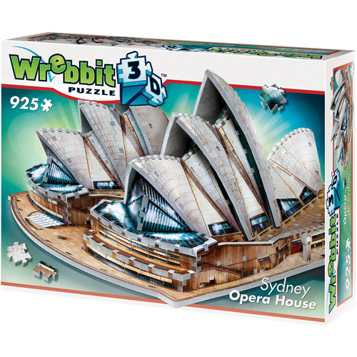 Sydney Opera House 3D Puzzle: 925 Pieces by Wrebbit