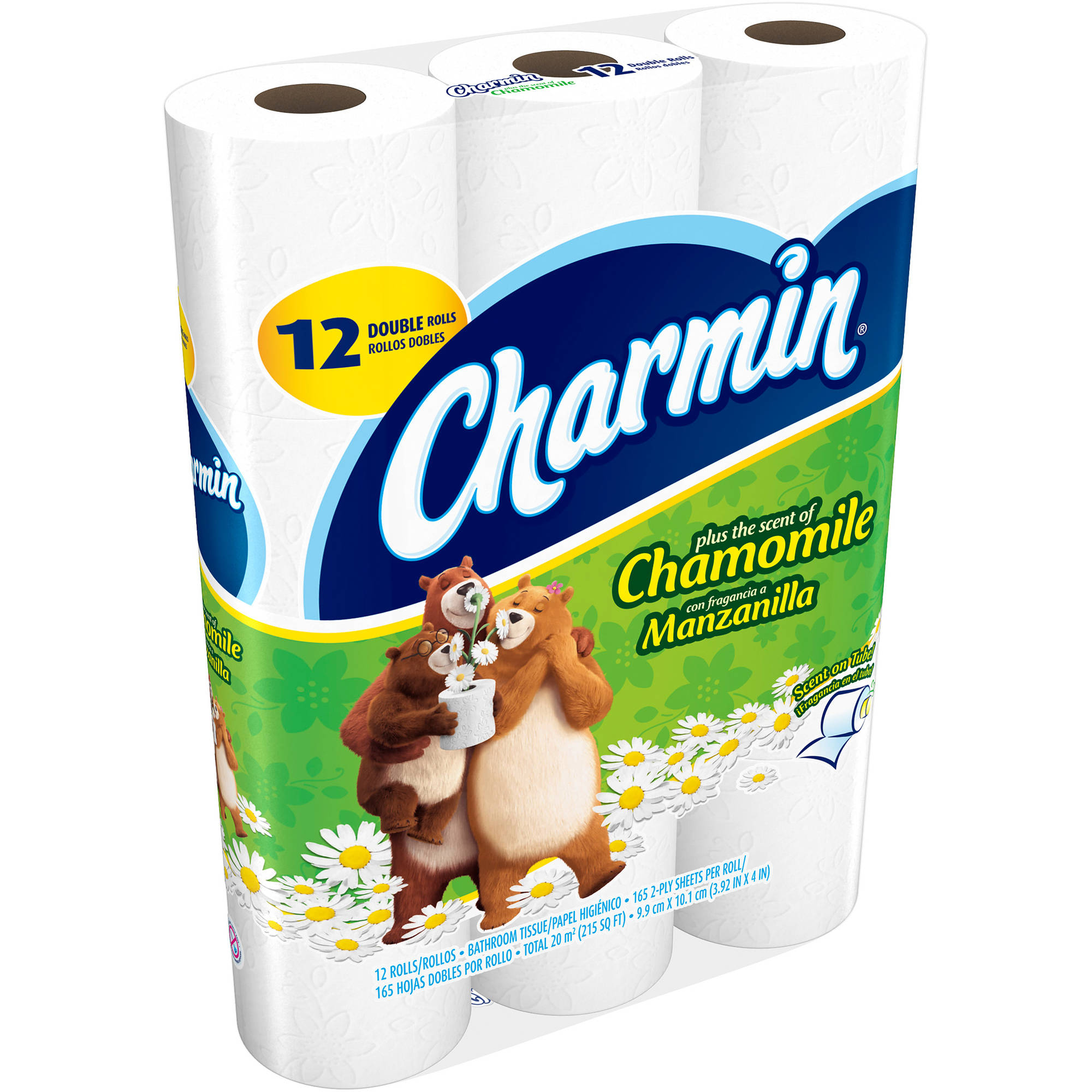 Charmin Plus the Scent of Chamomile Double Roll Bathroom Tissue, 12 rolls