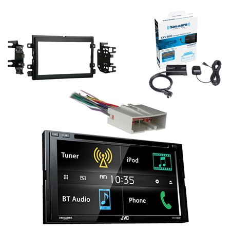 jvc   lcd touchscreen din bluetooth car stereo receiver  siriusxm satellite radio