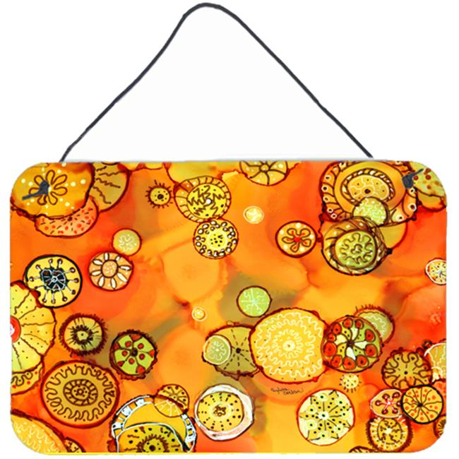 Carolines Treasures 8987DS812 Abstract Flowers in Oranges & Yellows Wall or Door Hanging Prints - image 1 of 1