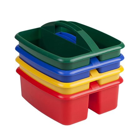 - Art Storage Large Caddy, 2 Compartments, Pack of 4