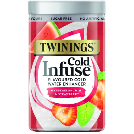 Twinings Cold Infuse Watermelon, Mint, & Strawberry, Tea Bags, 12 Ct