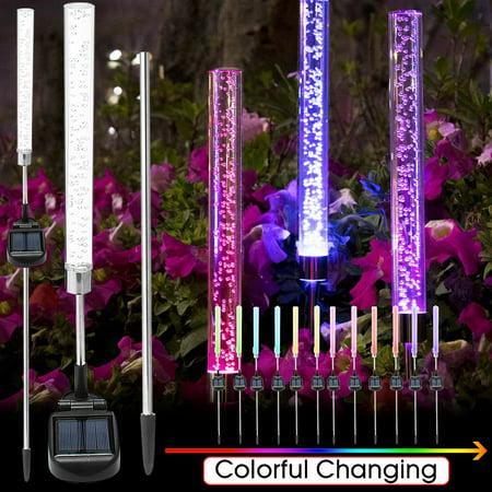 2X Solar Outdoor LED Plug Lawn Lamp Landscape Light Yard Garden Path  - image 6 de 9