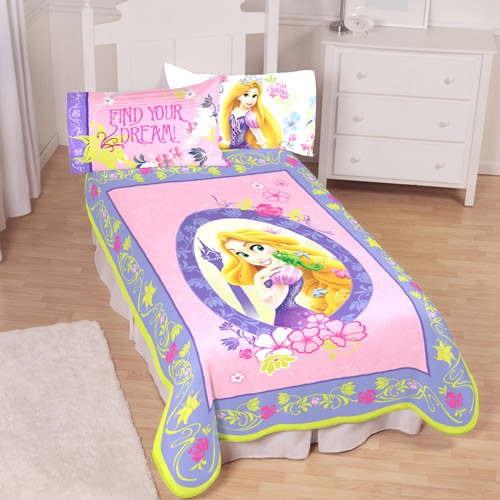 "Disney Tangled 62"" x 90"" Twin Plush Blanket"