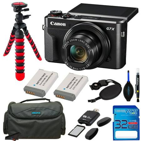 Canon PowerShot G7X Mark II Digital Camera +Pixi Bundle