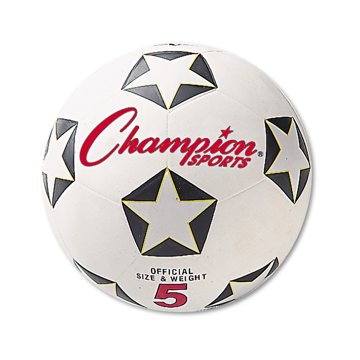 Champion Sports Rubber Sports Ball, For Soccer, No. 5, White Black by CHAMPION SPORT