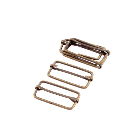 Rectangle Shape Sliding Bar Tri Glides Buckles 32mm Strap Adjuster 5Pcs