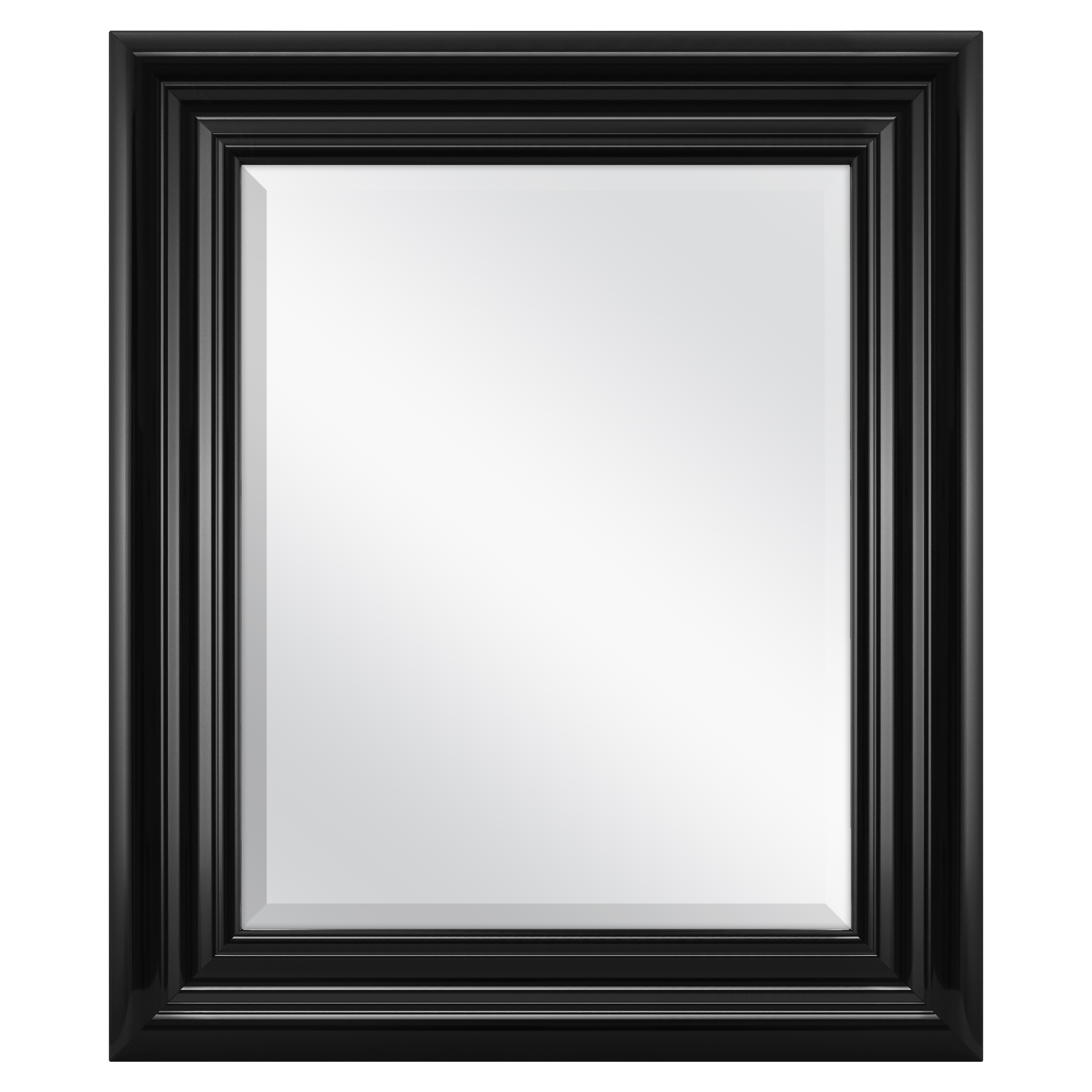 Better Homes & Gardens Beveled Wall Mirror, 23'' x 27'', Available in Black or White