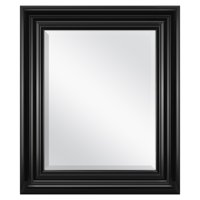 "Better Homes & Gardens Beveled Wall Mirror, 23""x 27"" Black"