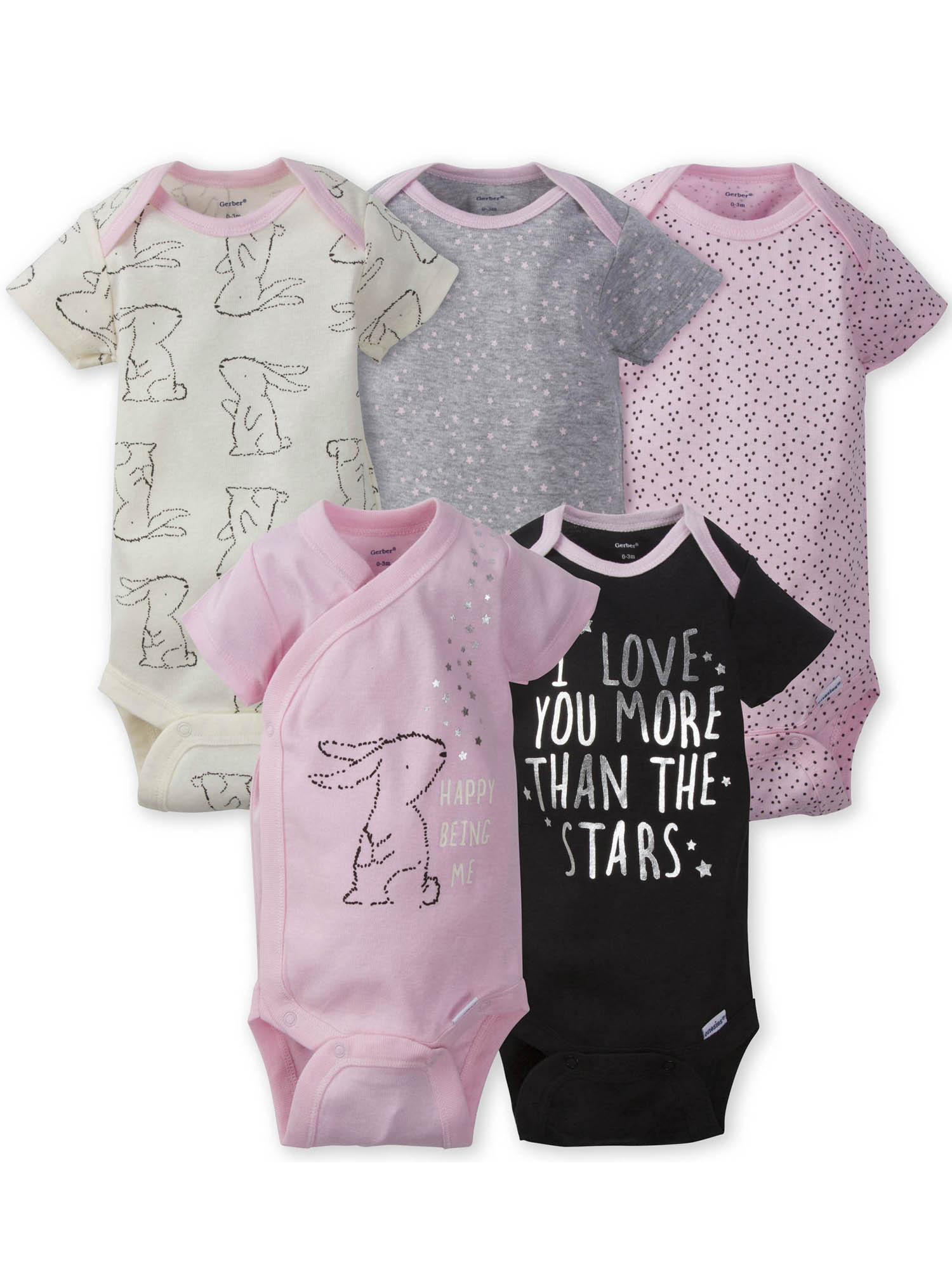 Toddler Baby Girls Bodysuit Short-Sleeve Onesie I Love You More Than Chocolate Print Outfit Spring Pajamas