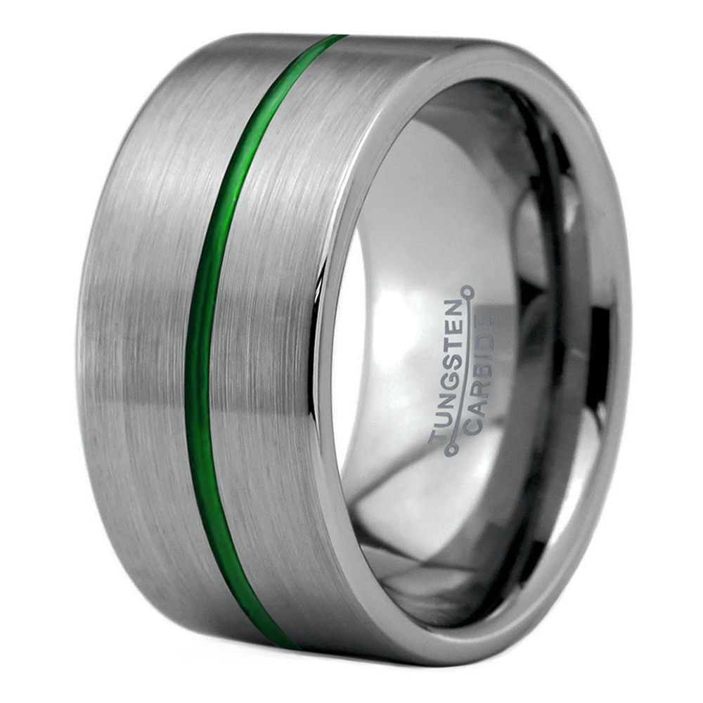Charming Jewelers: 12mm Silver Flat Wedding Band At Reisefeber.org