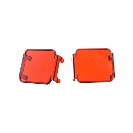 Pod Light Cover 3   Amber Spot Lens Oz Usa  For Cube Fog Lights Off Road Motorcycle Truck Suv Atv Marine Vessels  1 Pair