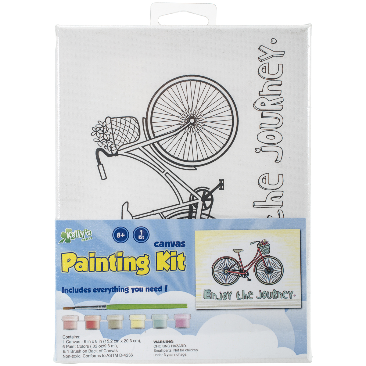 "CP Stretched Canvas and Paint Kit 6""x8""-Journey"