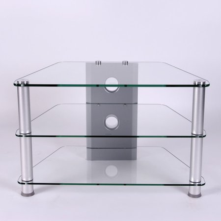 Corner Design Compact Glass TV stand