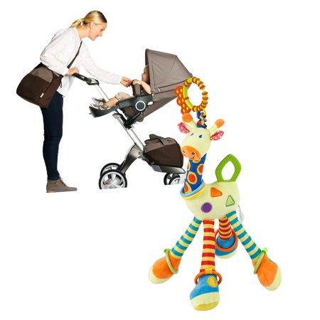 Teddy Rattle - Cotton Infant Baby Development Soft Giraffe Animal Handbells Rattles Handle Toys BB Tooth Gum Newborn Baby Teddy Kids Toy
