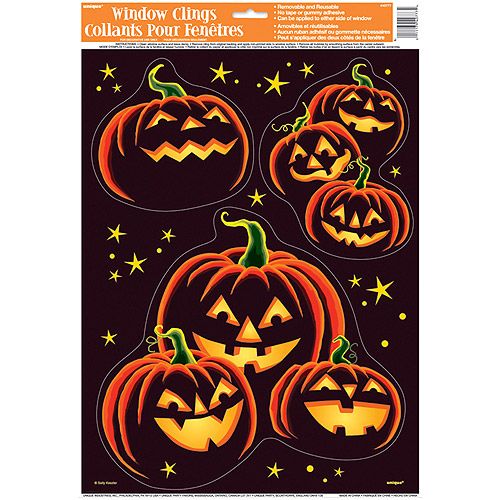 Pumpkin Grin Halloween Window Decals