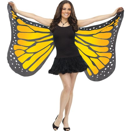 Morris Costumes Womens Soft Butterfly Fabric Wings Orange One Size, Style - Vegas Style Costumes