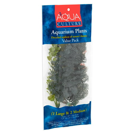 Aqua Culture Aquarium Plants 3-Piece Value Pack,