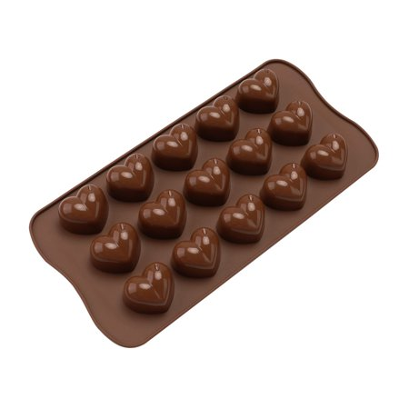Electronicheart 15 Grids Chocolate Heart Shaped Mold Ice Cube Fondant Making Mould Tray Home Bakery Baking Tool - image 1 de 8