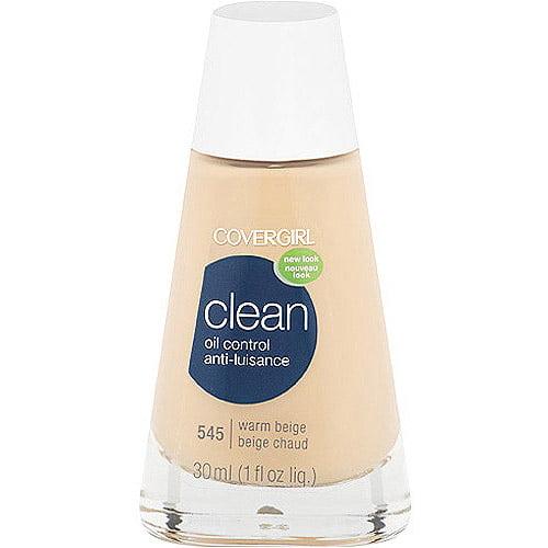 COVERGIRL Clean Matte Liquid Foundation, 545 Warm Beige, 1 fl oz