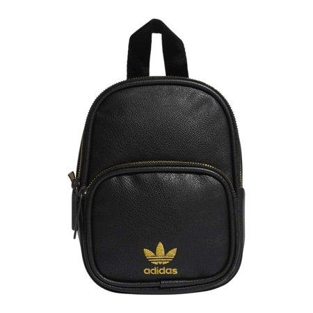 adidas Originals Mini PU Leather Backpack Black/Gold One