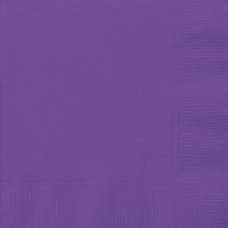 Breeze Luncheon Napkins - Paper Luncheon Napkins, 6.5 in, Neon Purple, 20ct