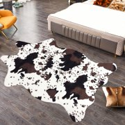Cute Cow Print Rug Faux Cowhide Area Rug Nice for Decorating Kids Room 3.6x2.5ft