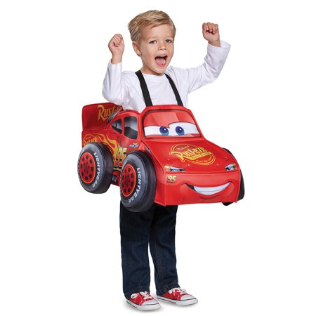 Lightning Mcqueen 3D Toddler Costume - Size One-Size - Lightening Mcqueen Costume