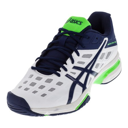 the best attitude f76dc afe05 Men`s Gel-Solution Lyte 3 Tennis Shoes White and Indigo Blue