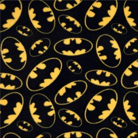 Batman Logo Anti Pill Premium Fleece Fabric 60 Inches Wide Sold