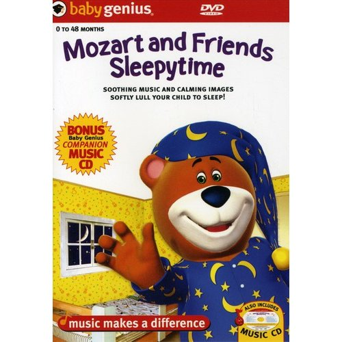 Baby Genius Mozart & Sleepytime Friends w/bonus Music CD