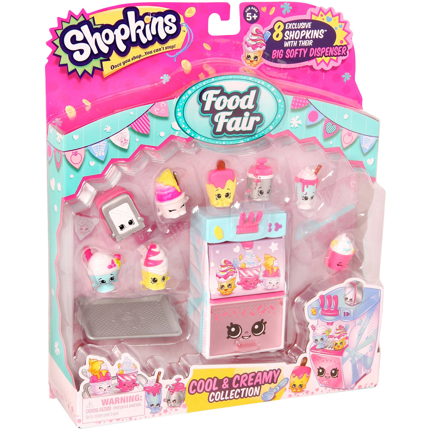 Moose Toys Shopkins Season 3 Food Fair Themed Packs Cool And Creamy Collection